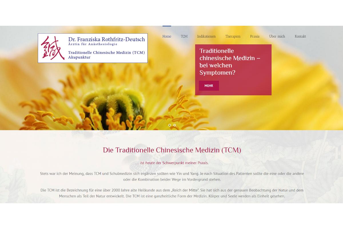 Screenshot Traditionelle Chinesische Medizin Regensburg