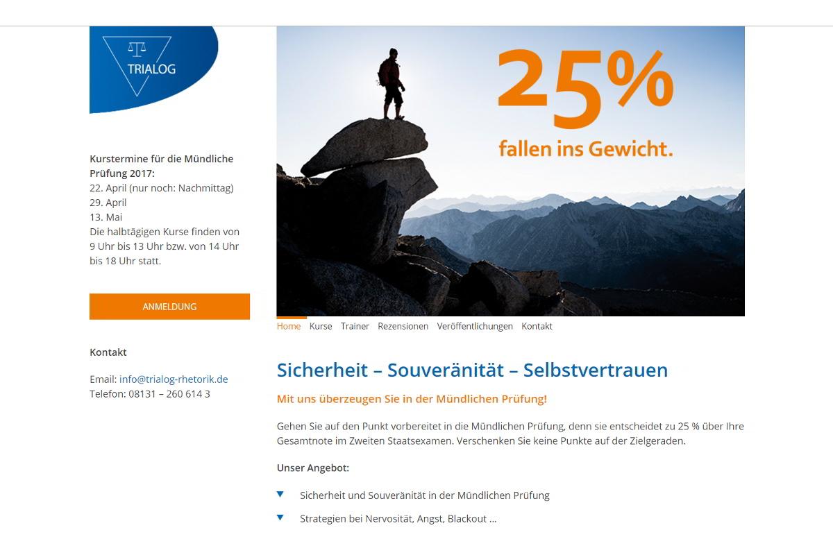 Screenshot trialog-rhetorik.de